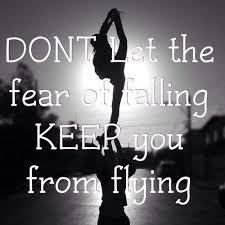 fear of falling quote photo