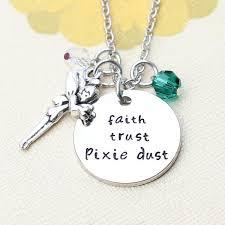 uk 925 silver plt faith trust pixie dust tinkerbell peter pan engraved gift 785035498458