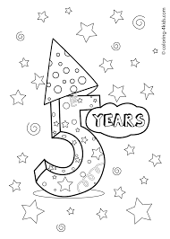 Here, the birthday cakes are presented in various shapes and sizes with candles on top. 5 Years Birthday Coloring Pages For Kids Printables Coloring Birthday Cards Birthday Coloring Pages Happy Birthday Coloring Pages