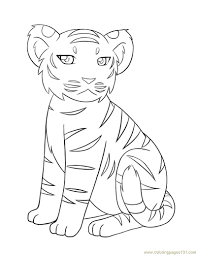 Small Picture Baby tiger Coloring Page Free Tiger Coloring Pages