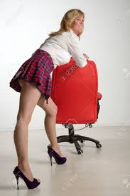 woman office furniture. Stock Photo - Woman Moving Office Furniture O