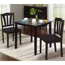3 Pece Dnng Set Table 2 Chars Ktchen Room Wood Black Tufted Accent Chair