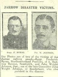 Jarrow Disaster Victims - Frederick Byrne, Northumberland …   Flickr