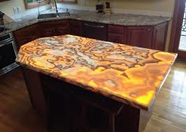 stunning onyx countertops unique kitchens with great visual appeal