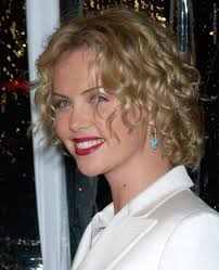 Charlize Theron Short Hair Style charlize theron short blonde curly bob hairstyle fashdea 7510 by wearticles.com
