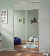 White edge mirror door
