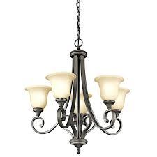 kichler chandelier 5 light 1 tier medium chandelier in bronze traditional chandeliers chandeliers kichler lacey 5