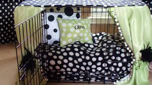interior modern dog crate covers in side bed with white curtains