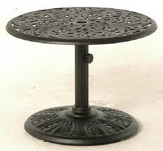 cau by hanamint luxury cast aluminum patio furniture 30 round side umbrella side table