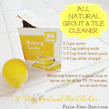 Homemade grout cleaner - works just as well as the store bought cleaners  but without the