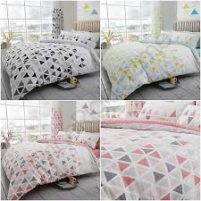 geo triangle duvet cover set bedding