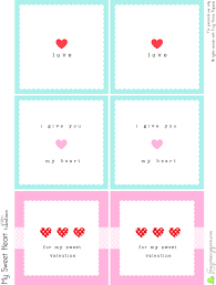 Printable Note Cards Free Valentines Lunch Box Notes Simple Valentines Pinterest