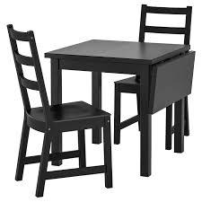 <b>НОРДВИКЕН</b> / <b>НОРДВИКЕН</b> Стол и 2 стула, черный, черный ...