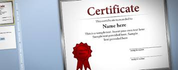 Free Online Printable Certificates Of Achievement Free Certificate Template For Powerpoint 2010 2013