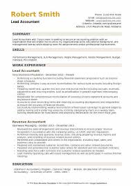 Resume Sample For Accountant Position Lead Accountant Resume Samples Qwikresume