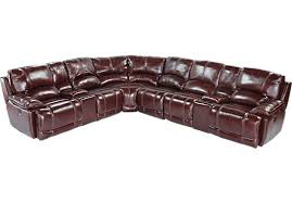 Sectional San Marco Toffee Leather Sectional 0 San Marco Black