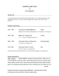 Resume Examples For Objective Instructor Objective Examples Licensed ...