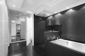 modern white bathroom ideas. Bathroom, Simple Styled Bath Up Installed At Contemporary Bathroom On Tiled Flooring Which Is Enhanced Modern White Ideas A