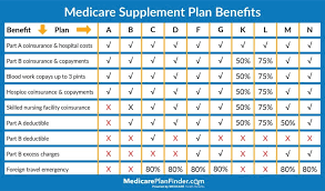 Medicare Supplement Plan Chart Ultimate Guide To Selling Medicare Supplements Senior