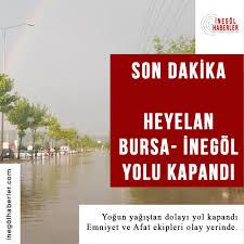 Inegöl haberler - SON DAKİKA BURSA - İNEGÖL YOLU KAPANDI...