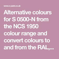 Alternative Colours For S 0500 N From The Ncs 1950 Colour