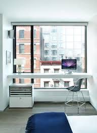 soho loft master bedroom desk modern-bedroom