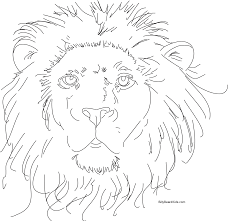 Small Picture Coloring Pages Draw A Lion LION HEAD Colouring In Coloring Pages