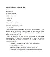 sample retail cover letter template     download free documents    sample retail supervisor cover letter