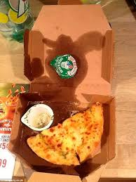 Domino     s pizza order arrives half eaten by staff   Daily Mail Online Daily Mail Karen Carman     s Domino     s order of garlic bread and dip  pictured  which arrived half