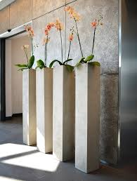 modern office plants. tall and elegant flower pots design sculpture by adam christopher modern office plants