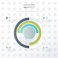Green Blue Gray Color Pie Chart Infographics Stock Vector Image