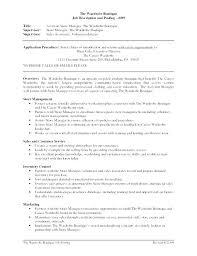 Visual Merchandising Manager Resume Sample Resume For Retail