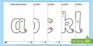 With the english alphabet you lay the most important foundation for learning the english language. Large A Z Tracing Letters For Kids Free Primary Resource