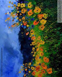 wild flowers 545111 painting by pol ledent