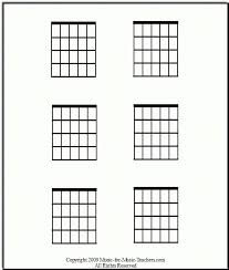Blank Guitar Chord Chart Template 5 Free Pdf Documents Download