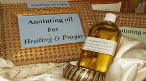 Image result for anointing oil in church