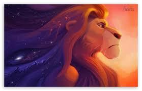 lion king painting ultra hd desktop