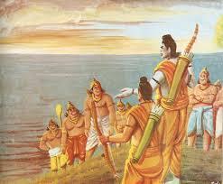 Image result for sugriv vibhisan,hanuman with all vanar image