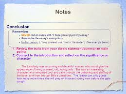 essay writing expository essay character analysis ppt 15 notes conclusion remember