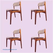 danish mid century teak dining chairs od 49 by erik buck for o d