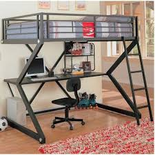 metal bunk bed with desk. Perfect Bunk Fullsize Metal Bunk Style Loft Bed With Desk  Beds Pinterest  Lofts Desks And Metals And With