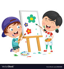 kids painting picture. Plain Painting Kids Painting On Canvas Vector Image With Painting Picture R