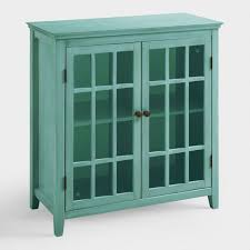 Antique Turquoise Double Door Storage Cabinet World Market