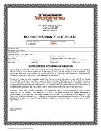 How To Write A Roofing Warranty Fill Online Printable Fillable