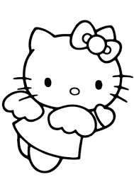 Hello Kitty Angel Coloring Pages Great Free Clipart Silhouette