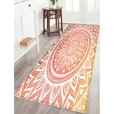 bohemian mandala pattern water absorption area rug colormix w24 inch l71 inch