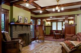 ... Exquisite Craftsman Style Molding For Your Interior Decoration :  Exciting Living Room Decoration Using Light Brown ...