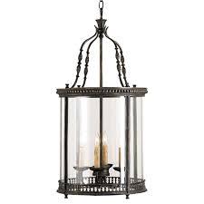 gardner vintage glass panels french black 4 light lantern pendant kathy kuo home