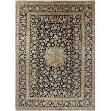 vegetable dye fl kashan persian oriental hand knotted wool area rug 12 6