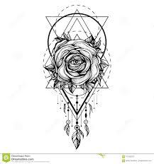 черный Chaplet розовый цветок с глазом картина геометрических форм